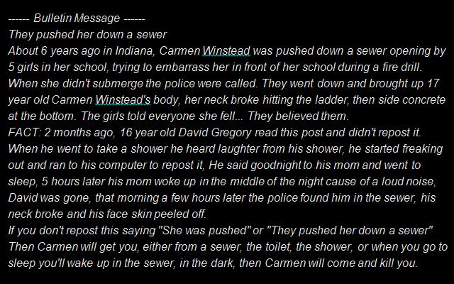 The Carmen Winstead Chain Letter